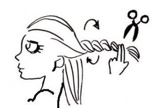 Taglio capelli scalati da sola