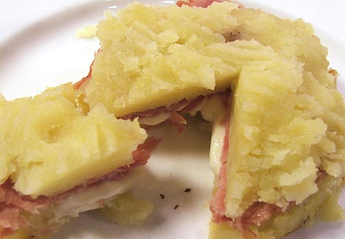 torta patate con mortadella