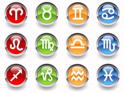 Glossy zodiac signs