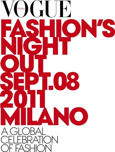 vogue's fashion night out 8 settembre 2011 milano