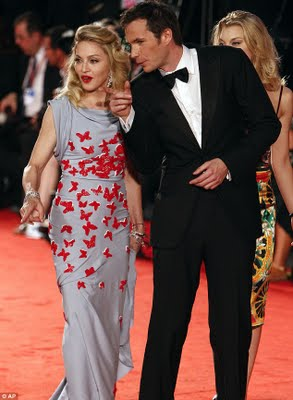 Madonna's metamorphosis Fresh-faced star flutters around the red carpet in a butterfly dress  3