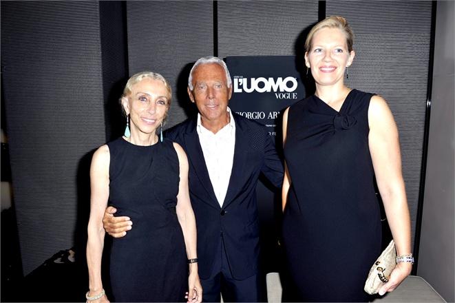 Franca Sozzani;Giorgio Armani;Simone Desmarchelier