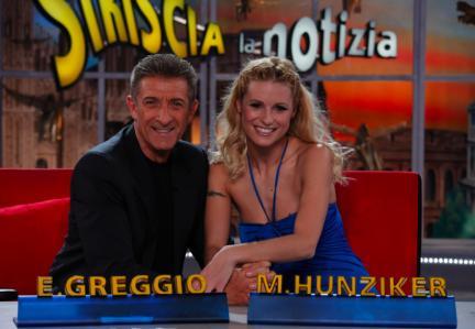 Michelle Hunziker Striscia La Notizia conduttrice in tv