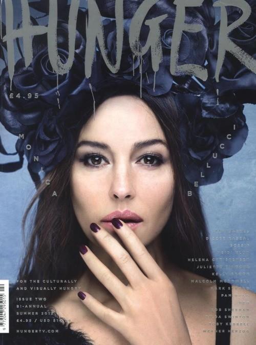 Monica Bellucci Immagini sulla copertina di The Hunger Magazine