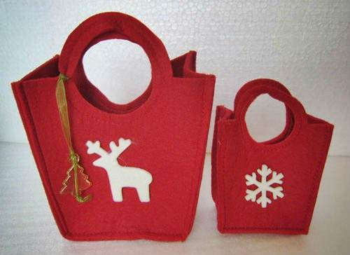 Come fare dei sacchetti natalizi fai da te chic