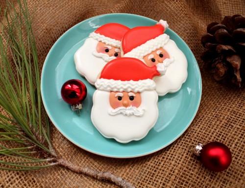 Biscotti Di Natale X Bambini.Biscotti A Forma Di Babbo Natale Per Bambini