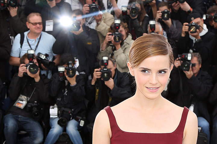Emma Watson poses during the photocall for The Bling Ring