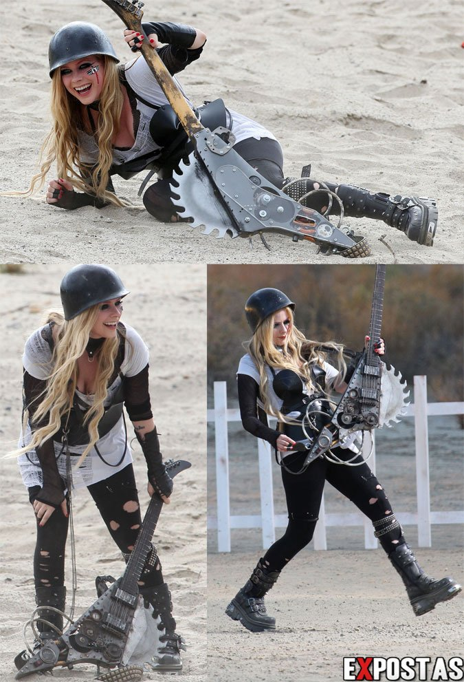 avril lavigne rock n roll video shoot