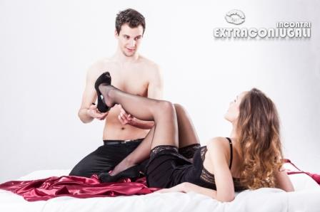 Lovers in erotic situation