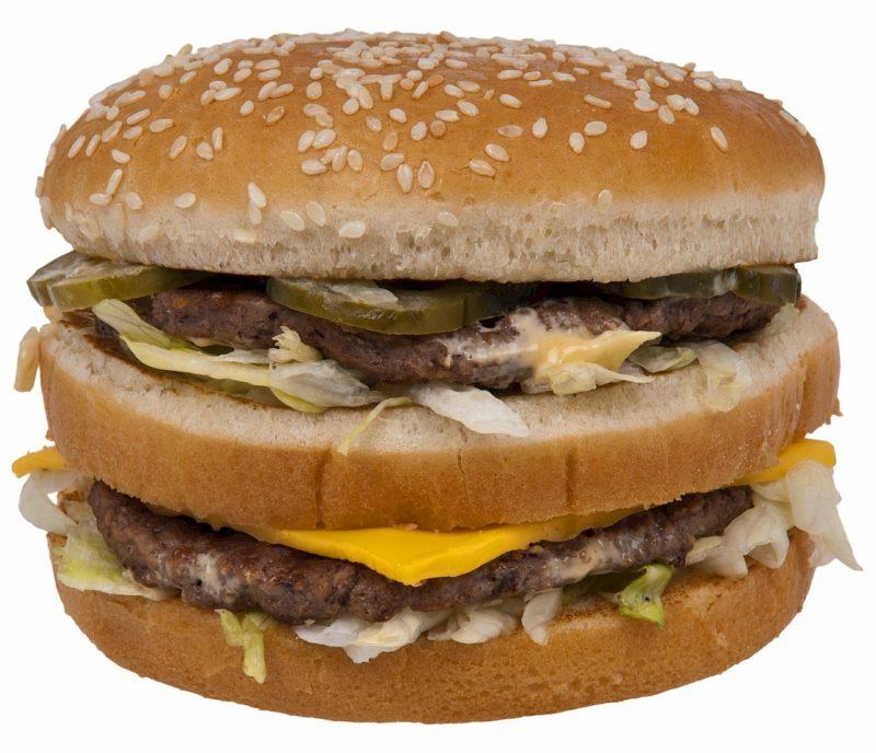 Gravidanza a base di Big Mac da McDonald's