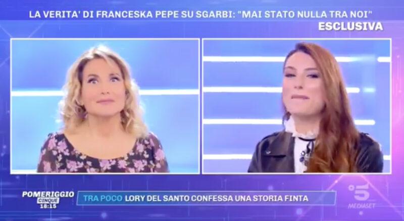 Barbara D'Urso: Franceska Pepe gela la conduttrice
