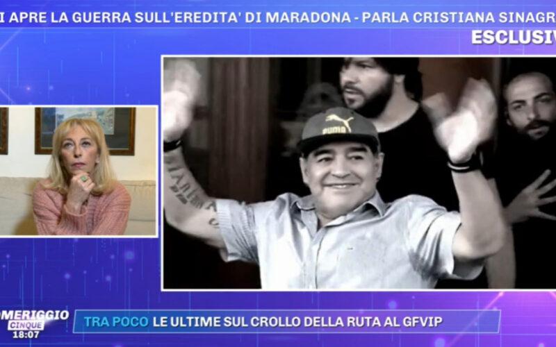 Pomeriggio 5, ancora guerra per l'eredità di Maradona