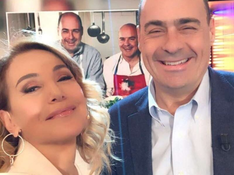 Barbara D'Urso risponde al tweet di Zingaretti