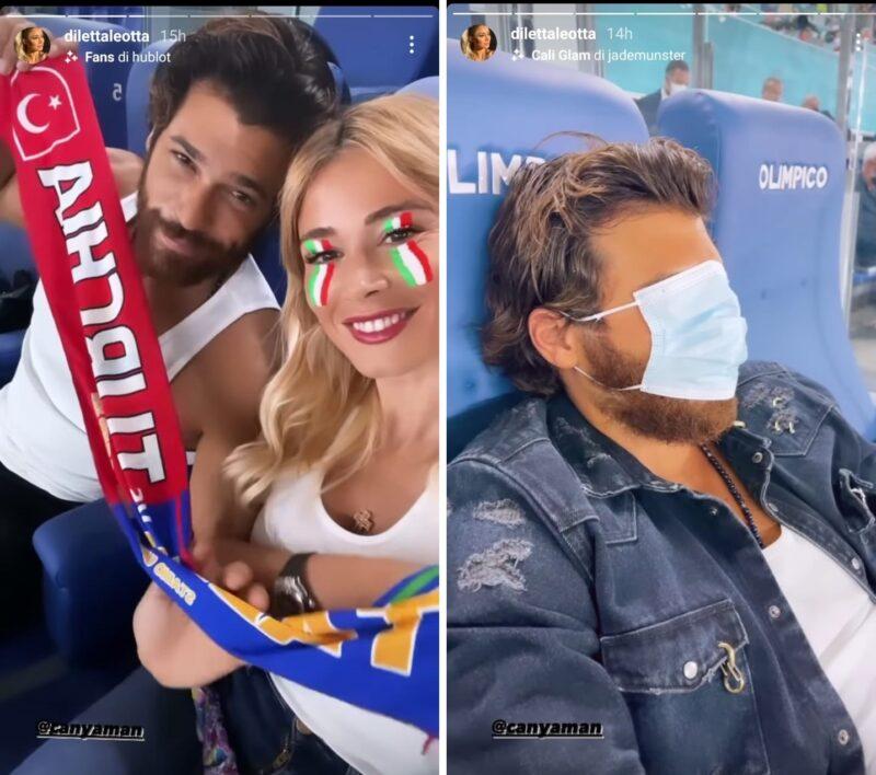 Euro 2020: Can Yaman e Diletta Leotta allo stadio