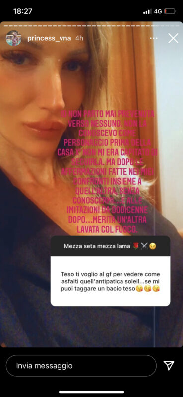 Temptation Island: Valentina Nulli Augusti attacca Soleil Sorge